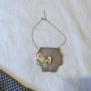 J.crew Hammered Gold Necklace